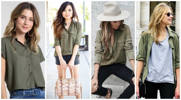 Military green shirt